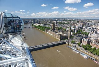 Thumb thumb thumb london eye top view