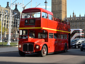 Vintage Open Top Bus tour with Fish & Chips Pub Dinner (PM)