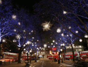 Evening Open-Top Christmas Lights Tour (4pm)